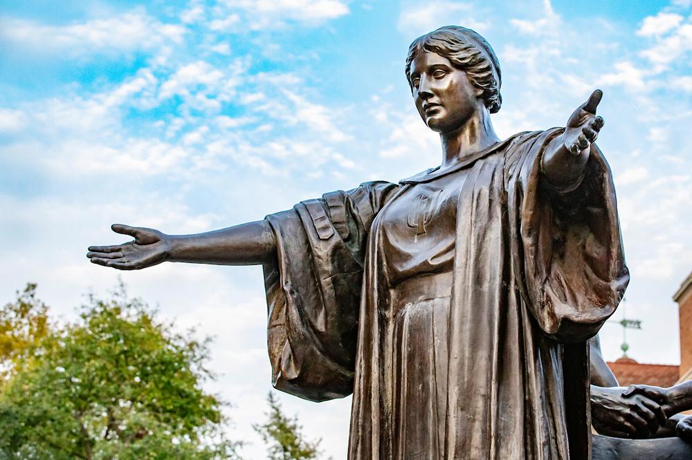Alma Mater statue