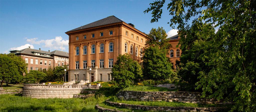 Engineering Hall at the University of Illinois along Boneyard Creek