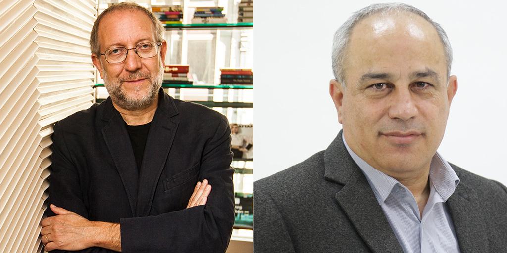 Headshots of Yossi Klein Halevi and Mohammad Darawshe